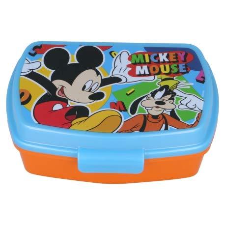ILS I LOVE SHOPPING Contenitore Termico Porta merenda Scatola Sandwich Box per Bambini (Mickey Disney Topolino Cool Summer)