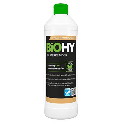 BiOHY Spezial Polsterreiniger (500ml Flasche) | Ideal für Autositze, Sofas, Matratzen etc. | Ebenfalls für Waschsauger geeignet