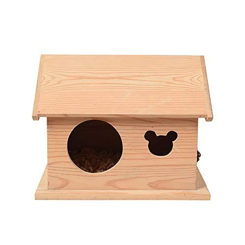 Hamster House Bois Hamster Maison Souris durable gerbille Toy Nest exercice Accueil 22.5 X 19 X 20 cm pour Souris Chinchilla Rat Gerbille Nain Hamster ( Color : Picture color , Size : 22.5x19x20cm )