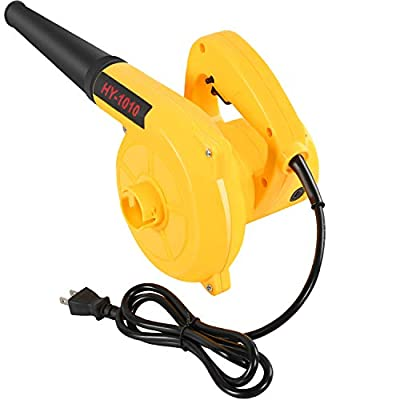 Vpment Corded Electric Leaf Blower,2-in-1 Handheld Vacuum/Sweeper, 13000r/min,400W 110V Multifunctional Blower,for Blowing Leaf/Snow, Dusting
