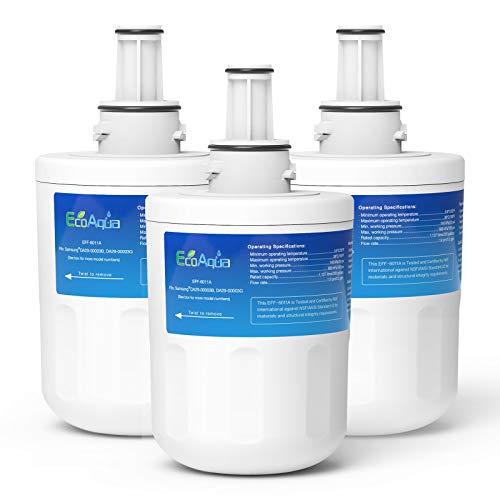 EcoAqua EFF-6011A Replacement de Filtre d'Eau de Frigidaire Compatible avec Samsung Aqua Pure Plus DA29-00003G HAFIN2 DA29-00003B DA29-00003A DA97-06317A DA99-01774B DA61-00159A HAFCU1 WF289 WSS-1 (3)