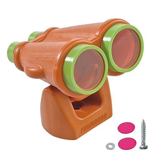 FATMOOSE verrekijker DuoSpy XL verrekijker voor kinderen, telescoop, oranje-groen, 317 x 246 x 220 mm (LxBxH), kunststof