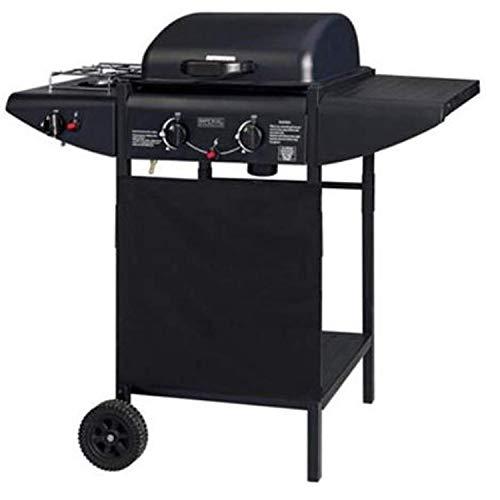 ke grill Barbecue A Gas 2 Fuochi + Fornello Laterale Griglia in Acciaio Inox a Pietra Lavica da Giardino Esterno PIC nic …