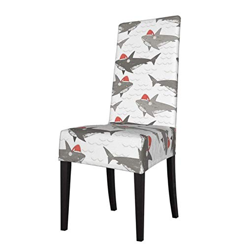 Christmas Shark Stretch Esszimmerstuhl SlipCover Fashion Armless Chair Schonbezug Protector Cover für Esszimmer