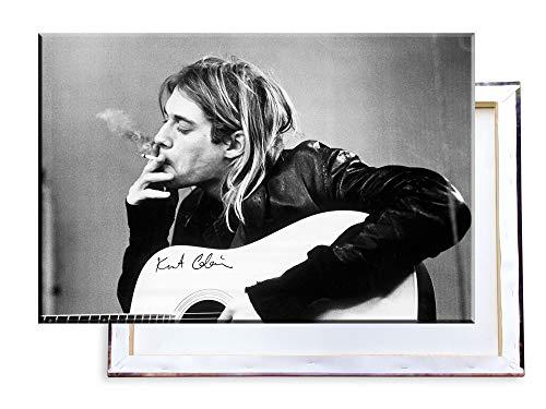 Unified Distribution Kurt Cobain - Nirvana - 100x70 cm Kunstdruck auf Leinwand • erstklassige Druckqualität • Dekoration • Wandbild