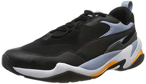 PUMA Unisex-Erwachsene Thunder Fashion 2.0 Sneaker , Mehrfarbig (Puma Black-Faded Denim-Puma White) , 43 EU