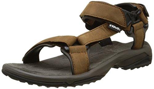 Teva Terra Fi Lite Leather M's, Sandalias de Senderismo para Hombre, Marrón (Brown), 39.5