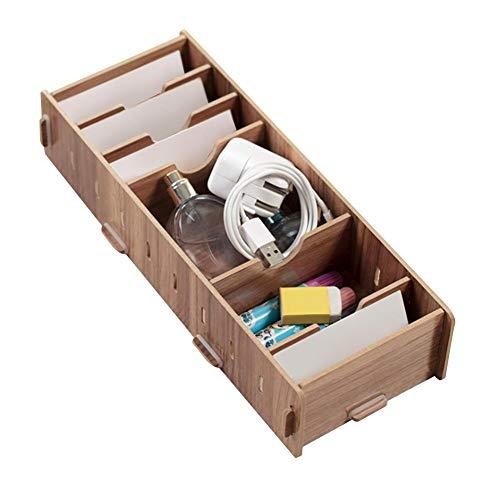 Visitekaarthouder, innovatief houten visitekaartje Opbergdooshouder Pocket Office Card Desk Desktop Organizer(#01)