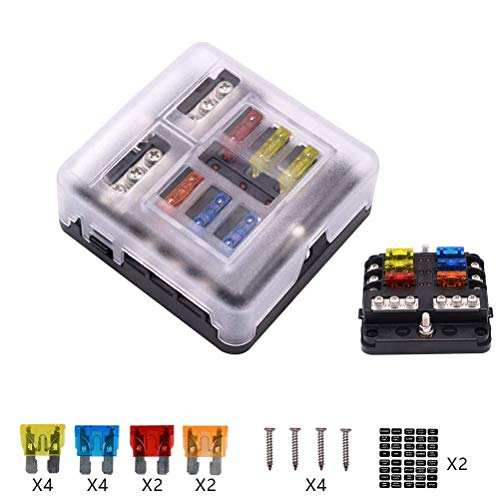 12v 1 x 4 way blade fuse box holder fusebox the best amazon price in savemoney es  fusebox the best amazon price in