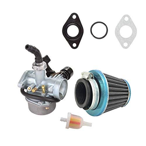 Luntus ATV Carburador Pz19 con Filtro De Combustible Y Filtro De Aire De 35 Mm para 50Cc 70Cc 80Cc 90Cc 110Cc 125Cc ATV Dirt Pit Bike Taotao Crf