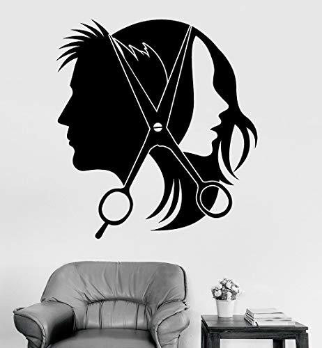 Vinyl-Wandaufkleber, Friseur-Logo
