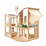 PLAN TOYS - 'Green' Doll's House with Furniture -