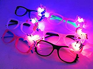 12/pk Unicorn LED Light Up Sunglasses (Color May Vary) children party item birthday holiday event