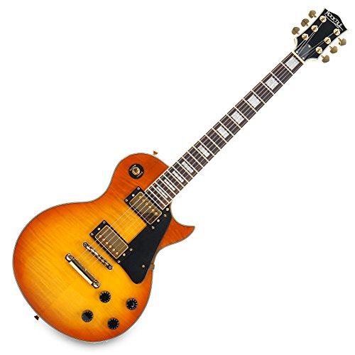 Rocktile L-200OHB Pro Honey Burst - Guitarra eléctrica, color naranja