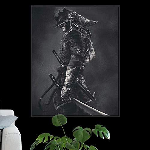 wojinbao Kein Rahmen Japanischen Samurai Leinwand Malerei Moderne Wandkunst Bilder Abstrakt Für Wohnzimmer Dekoration Poster Und Drucke 60x90 cm