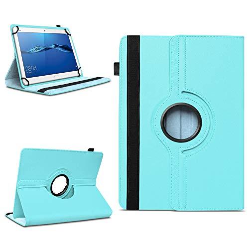 NAmobile Schutzhülle kompatibel für Huawei MediaPad T1 T2 T3 T5 10 Tablet Hülle Tasche Schutzhülle Hülle 360 Drehbar, Farben:Türkis