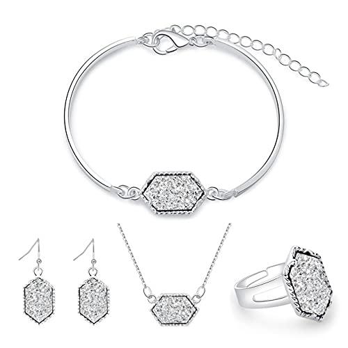 N/A Conjunto de Accesorios de decoración de 4 Piezas de racimo de Diamantes de Color Dulce Simple y de Moda Aniversario de Bodas día de la Madre Regalo de cumpleaños de Navidad