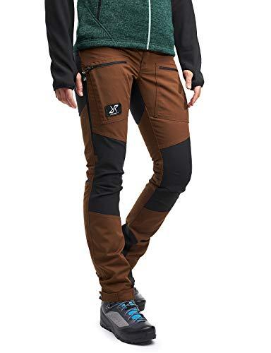 RevolutionRace Damen Nordwand Pro Pants, Hose zum Wandern und für viele Outdoor-Aktivitäten, Espresso Brown, 34
