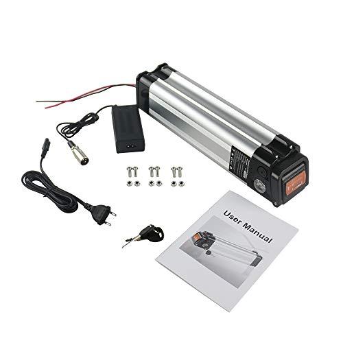 himaly E-Bike Akku 24V/10Ah Fahrrad Ersatzakku Batterie mit einem Ladegerät, Akku für Ebike mit Ladestrom bis 2A, für Elektrofahrrad und Pedelec