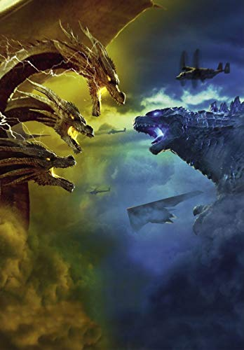 Lionbeen Godzilla King of The Monsters Movie Poster di Film 70 X 45 cm