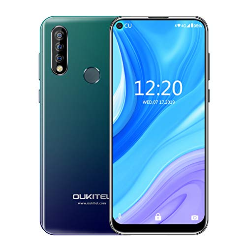 Smartphone OUKITEL C17 2019 Infinity Display 6.35' Tripla Fotocamera 13+5+2MP MT6763 3GB RAM Batteria 3900mAh Offerte Cellulari Android 9.0 4G Dual SIM GPS Face ID (2GB, Black)