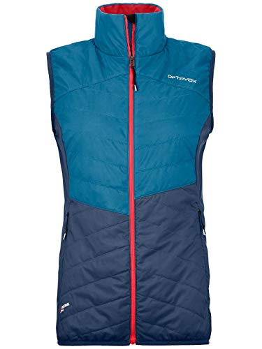 ORTOVOX Damen Swisswool Dufour Vest W, Blue sea, L