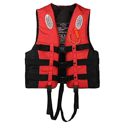 Younoo1 Chaleco de salvamento, chaleco de flotabilidad para supervivencia Dynamic Paddle Sports Life Vest con silbato de dureza y bandas reflectantes para natación, canotaje, Kayak Canoa