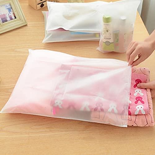 Bolsa de almacenamiento de plástico para guardarropa, con cierre de cremallera, cierre de cremallera, cierre de cremallera, cierre deslizante, bolsa de embalaje para cosméticos (color: 40 x 50