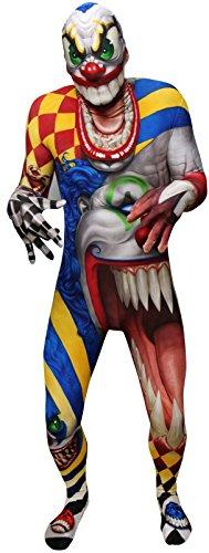 Morphsuit, costume da mostro, motivo: teschio e ossa