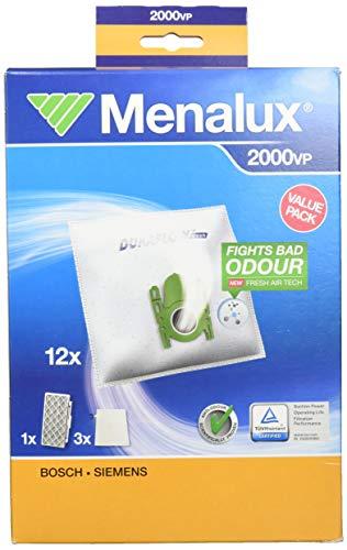 Menalux 2000VP Vorteilspack für Bosch BSGL5 und Siemens VSZ6, 12x Beutel, 1x Hygiene Filter H12, 3x Microfilter