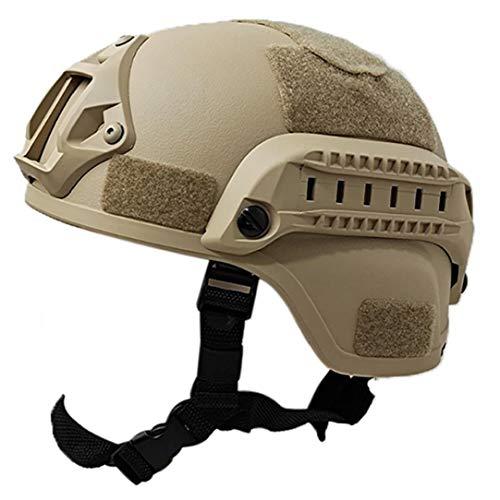 Al aire libre ajustable acolchada Casco hábil con NVG Monte y del carril lateral para Airsoft Paintball Caza de disparo (Arena) Para el disparo