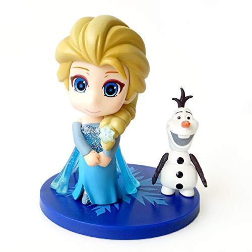 Dhl 3 Stil Kuchen-Dekoration EIS-Prinzessin Schnee ELSA Schneemann-Puppe-Spielzeug-Dekoration 8cm