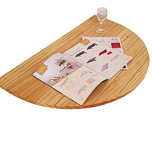 WEHOLY Klapptisch zur Wandmontage, klappbar, Laubwandtisch, halbrund, Tisch, Computertisch