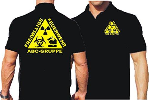 Polo Black, freiwllige Pompiers ABC de Groupe L noir - noir