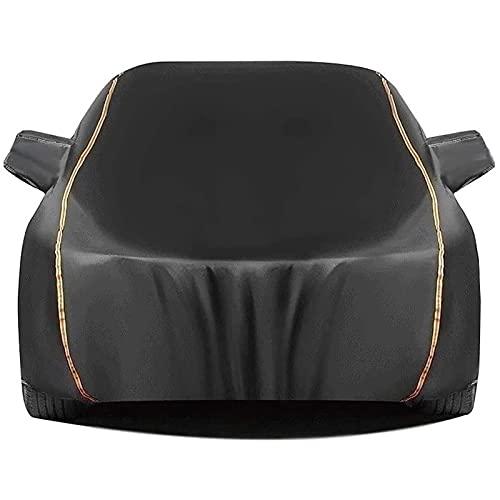 LSHIRT Telo Copriauto Compatibile con Chevrolet Corvette Stingray Copertura Auto Impermeabile Resistente Graffi Traspirante Addensato Telone per Auto (Color : Black, Size : Corvette Stingray)