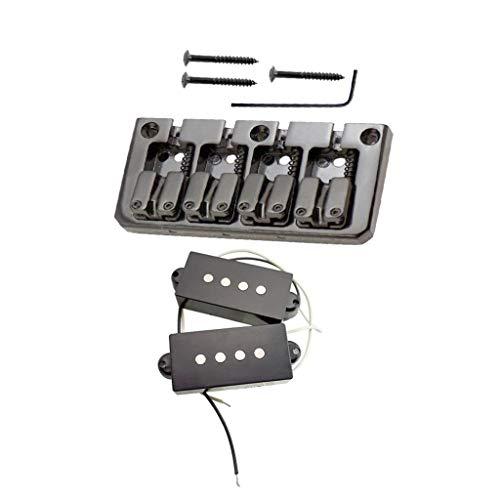 perfeclan Puente Rígido de 4 Cuerdas Jazz Bass con Pastilla PB para...
