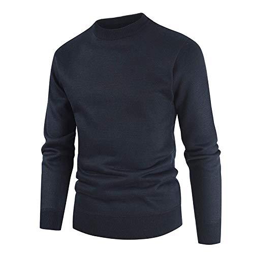 KTZAJO 2021 Veste tricotée rétro pour homme avec coutures tendance décontractées Streetwear à manches longues - Noir - M