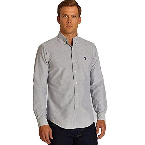 Ralph Lauren Camisa Classic Slim Fit (XL, Checkered Grey)