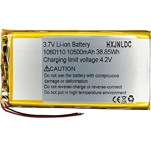 DC 3,7v 10500 Mah 1060110 sustitución de baterías de polímero de Iones de Litio para Batería de alimentación portátil para Robot DIY