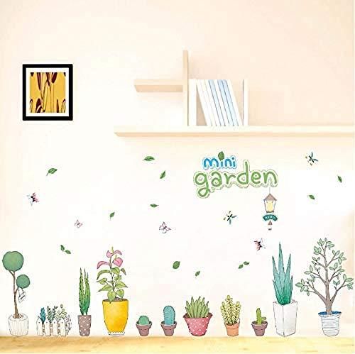 Fotobehang-bloempot plant huishoudtextiel doe-het-zelf muurschildering 50x70cm