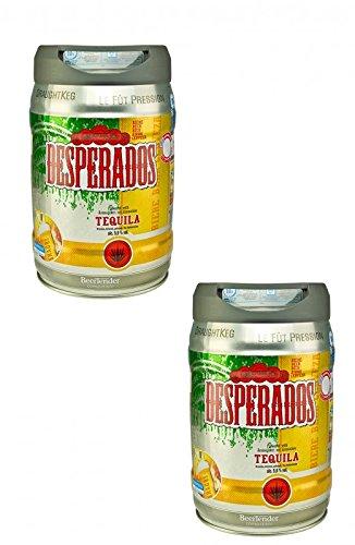 Desperados Bier mit Tequila im 2 x 5 Liter Fass inkl. Zapfhahn