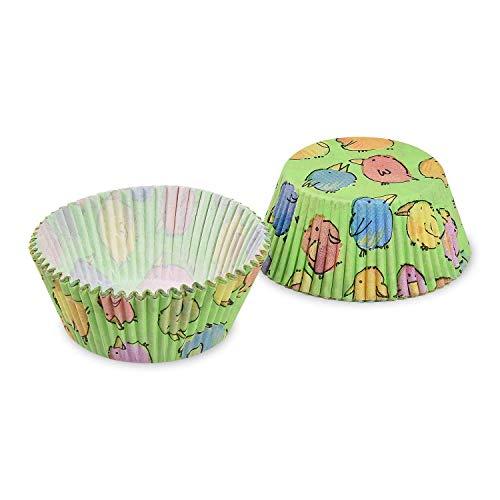 EVENTpac 40x Muffin Förmchen aus Papier für Cupcakes Muffins Küken Ostern zum Backen für Geburtstag Hochzeit Partys Kindergeburtstag