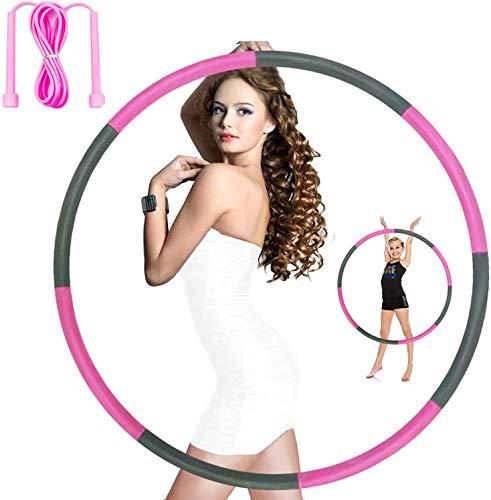 Exemplife Hula Hoop-Serie zur Gewichtsreduktion,Reifen mit Schaumstoff 1kg Gewichten beschwerter Hula-Hoop-Reifen für Fitness