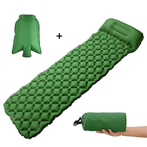 APJJ Inflatable Sleeping Mat, Ultralight Camping Roll Mat, Camping Sleeping Mat Ultra-Compact Sleeping Pad for Camping Backpacking Hiking Traveling, Waterproof Carrying Bag,B