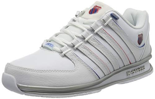 K-Swiss Mens Rinzler Sneaker, WHT/WHT/Corporate, 42 EU