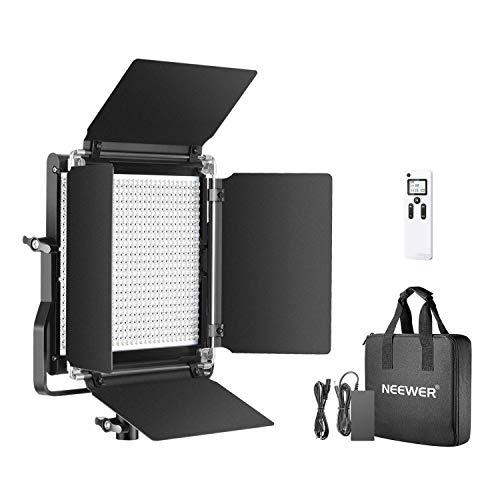 Neewer 660 LED Panneau 2,4G, Lumière Panel Éclairage LED Vidéo Améliorée Bi-Couleur Variable avec LCD Ecran et 2,4G pour Photo Portrait Produit Studio Vidéo avec Coupe-Flux