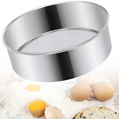 Tamiz de acero inoxidable,Colador de harina de malla fina 15cm para hornear pasteles
