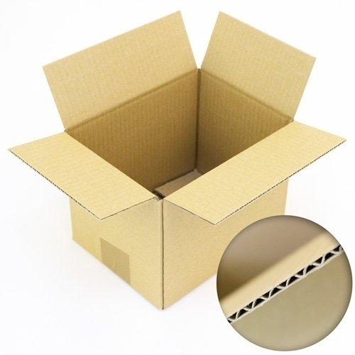 Faltkartons, 200 x 150 x 150 mm, 100 Stück | Kleine Kartons aus Wellpappe | Ideal für Warensendungen