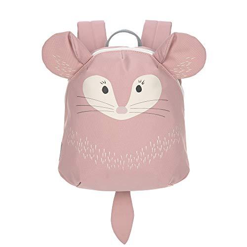 LÄSSIG Kleiner Kinderrucksack für Kita Kindertasche Krippenrucksack mit Brustgurt/Tiny Backpack, 20 x 9 x 24 cm, 3,5 L, Chinchilla