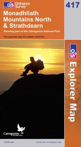 OS Explorer map 417 : Monadhliath Mountains North & Strathdearn